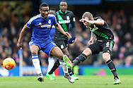 Glenn Whelan of Stoke City ® taking a shot at goal. Barclays Premier league match, Chelsea v Stoke city at Stamford Bridge in London on Saturday 5th March 2016.<br /> pic by John Patrick Fletcher, Andrew Orchard sports photography.