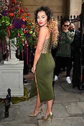 © Licensed to London News Pictures. 20/02/2016. ELLA EYRE arrives at the JULIEN MACDONALD Autumn/Winter 2016 show. Models, buyers, celebrities and the stylish descend upon London Fashion Week for the Autumn/Winters 2016 clothes collection shows. London, UK. Photo credit: Ray Tang/LNP