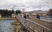 The Bridge at Argenteuil' 1872: Alfred Sisley (1839-1899) French painter.  Oil on canvas.