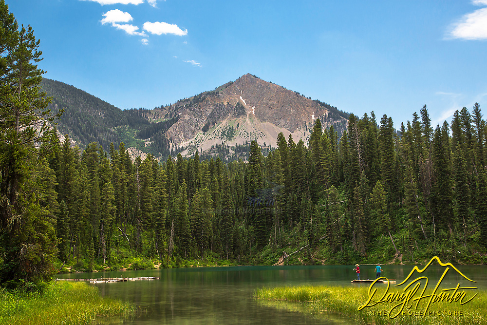 Boys fishing at Murphy Lake high in the Salt River Range of Wyoming. This tiny gem is in the Greys River Valley.
