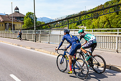 25.04.2018, Innsbruck, AUT, ÖRV Trainingslager, UCI Straßenrad WM 2018, im Bild Stefan Denifl (AUT), Patrick Konrad (AUT) // during a Testdrive for the UCI Road World Championships in Innsbruck, Austria on 2018/04/25. EXPA Pictures © 2018, PhotoCredit: EXPA/ JFK