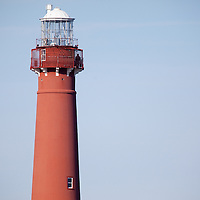 """Barnegat Lighthouse, colloquially known as """"Old Barney"""", is located in Barnegat Lighthouse State Park on the northern tip of Long Beach Island, in the borough of Barnegat Light, New Jersey, in the United States. Situated along the Barnegat Inlet, it is the fourth-tallest lighthouse in the United States."""