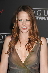 December 10, 2016 - Los Angeles, California, United States - December 10th 2016 - Los Angeles California USA - Actress KATIE LECLERC    at the World Premiere for ''Rogue One Star Wars'' held at the Pantages Theater, Hollywood, Los Angeles  CA (Credit Image: © Paul Fenton via ZUMA Wire)