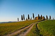 Lone farmhouse in Tuscany, Italy