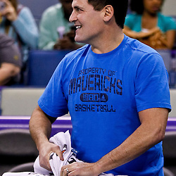 November 17, 2010; New Orleans, LA, USA; Dallas Mavericks owner Mark Cuban during warm ups prior to tip off of a game against the New Orleans Hornets at the New Orleans Arena. Mandatory Credit: Derick E. Hingle