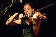 Israeli singer Keren Peles is performing in the Berale club at Lehavot Haviva collective settlement. July 17, 2007.