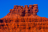Rock formations of the Valley of the Gods, Utah USA.