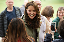 October 2, 2018 - London, London, United Kingdom - Catherine, Duchess Of Cambridge meets members of the public during a visit to Sayers Croft Forest School and Wildlife Garden at Paddington Recreation Ground, London, United Kingdom, 02 October 2018. (Credit Image: © Ray Tang/ZUMA Wire)