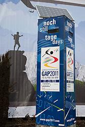 04-02-2011 SKIEN:  FIS ALPINE WORLD CHAMPIONSSHIP: GARMISCH PARTENKIRCHEN<br /> The countdown clock in the town centre.            <br /> **NETHERLANDS ONLY**<br /> ©2011-WWW.FOTOHOOGENDOORN.NL/NPH-Mitchell Gunn