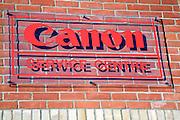 Canon service centre sign