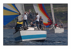 Racing at the Bell Lawrie Yachting Series in Tarbert Loch Fyne. Sunday racing was dominated by light winds...Upstart 1156C.