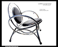 LCMX Lounge Chair with padded cushions.