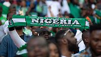 Football - 2018 International Friendly (pre-World Cup warm-up) - England vs. Nigeria<br /> <br /> Nigeria fans before kick off at Wembley Stadium.<br /> <br /> COLORSPORT/DANIEL BEARHAM