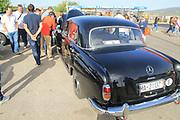 Vintage Mercedes car rally, Ronda, Malaga province, Spain