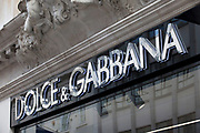 Sign for high end fashion and exclusive brand Dolce & Gabbana.
