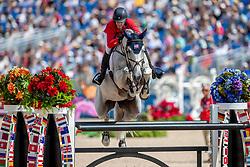 KRAUT Laura (USA), Zeremonie<br /> Tryon - FEI World Equestrian Games™ 2018<br /> FEI World Individual Jumping Championship<br /> Third cometition - Round B<br /> 3. Qualifikation Einzelentscheidung 1. Runde<br /> 23. September 2018<br /> © www.sportfotos-lafrentz.de/Stefan Lafrentz