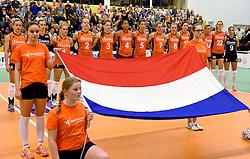 30-12-2015 NED: Nederland - Belgie, Almelo<br /> Op het 25 jaar Topvolleybal Almelo spelen Nederland en Belgie een oefen interland ter voorbereiding op het OKT dat maandag in Ankara begint. Nederland wint ook de tweede wedstrijd 3-1 / Volkslied