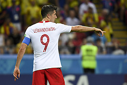 June 25, 2018 - Kazan, Russia - Robert Lewandowski of Poland pictured during during the 2018 FIFA World Cup Group H match between Poland and Colombia at Kazan Arena in Kazan, Russia on June 24, 2018  (Credit Image: © Andrew Surma/NurPhoto via ZUMA Press)