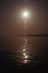 Sun reflected in the sea,