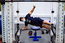 Will Capon in action in the gym as Bristol Bears start to use their new almost completed Training centre - Rogan/JMP - 08/07/2020 - RUGBY UNION - Beggar Bush Lane - Bristol, England.