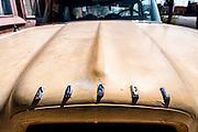 A yellow Edsel in Seligman, Arizona. Missoula Photographer