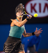 Canadian Eugenie Bouchard (CAN) won her fourth round match against home country favorite Casey Dellacqua (AUS)  in the seventh day of the 2014 Australian Open. Brouchard won the match 7(7) - 6(5), 2-6, 0-6. The match was held on center court at Melbourne's Rod Laver Arena.