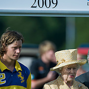 LONDON, ENGLAND - JUNE 14:  HM Queen Elizabeth II at the presentaqtion of the Queens Cup at Guard Polo Club on June 14, 2009 in London, England.  (Photo by Marco Secchi/Getty Images)