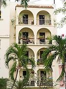 Balconies along Calle Clara Lair, Old San Juan/Viejo San Juan