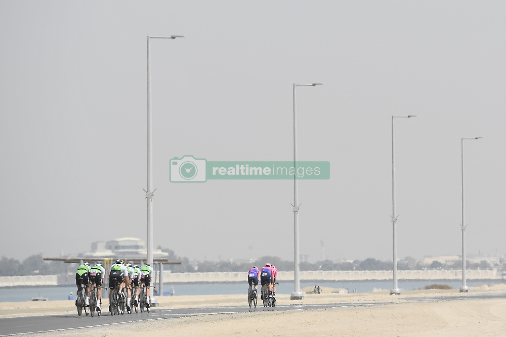 February 24, 2019 - Abu Dhabi, Emirati Arabi Uniti, Emirati Arabi Uniti - Foto LaPresse - Fabio Ferrari.24 Febbraio 2019 Abu Dhabi (Emirati Arabi Uniti).Sport Ciclismo.UAE Tour 2019 - Tappa 1 - Da Al Hudayriat Island a Al.Hudayriat Island - Crono squadre 16 km.Nella foto: la gara..Photo LaPresse - Fabio Ferrari.February 24, 2019 Abu Dhabi (United Arab Emirates) .Sport Cycling.UAE Tour 2019 - Stage 1 - From Al Hudayriat Island to.Al Hudayriat Island - TTT 9,9 miles.In the pic: the race (Credit Image: © Fabio Ferrari/Lapresse via ZUMA Press)