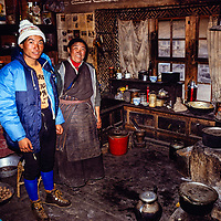 Sherpa mother and son, Namche Bazar, Nepal 1980