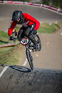 #140 (THERKELSEN Jimmi) DEN during practice at Round 9 of the 2019 UCI BMX Supercross World Cup in Santiago del Estero, Argentina