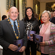 22.11.2016                   <br /> University of Limerick (UL) hosted a gala concert celebrating the music of renowned composer Mícheál Ó Súilleabháin.<br /> <br /> Pictured at a special reception before the concert were, Mayor of Limerick City and County, Cllr. Kieran O'Hanlon, Mary Daly and Stephanie Walsh.<br /> <br /> <br /> The RTÉ Concert Orchestra, conducted by David Brophy, performed with Mícheál and a selection of special guests in University Concert Hall Limerick. Picture: Alan Place