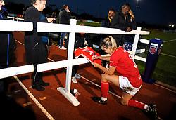Bristol City Women players sign autographs at the end of the match  - Mandatory by-line: Nizaam Jones/JMP - 27/10/2019 - FOOTBALL - Stoke Gifford Stadium - Bristol, England - Bristol City Women v Tottenham Hotspur Women - Barclays FA Women's Super League