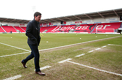 Bristol Rovers manager Darrell Clarke arrives at The Keepmoat Stadium ahead of his side's game against Doncaster Rovers - Mandatory by-line: Robbie Stephenson/JMP - 27/01/2018 - FOOTBALL - The Keepmoat Stadium - Doncaster, England - Doncaster Rovers v Bristol Rovers - Sky Bet League One
