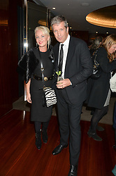 AMANDA ELIASCH and TOM MEGGLE at a dinner hosted by Liberatum to honour Francis Ford Coppola held at the Bulgari Hotel & Residences, 171 Knightsbridge, London on 17th November 2014.