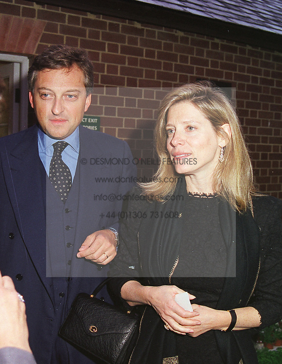COUNT & COUNTESS EDMONDO di ROBILANT at a dinner in London on 24th May 1999.MSK 58