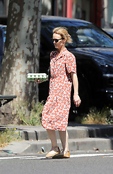 Vanessa Paradis shopping groceries in Paris on June 25th 2018, a few weeks before her wedding. NO CREDIT