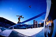 Stale Sandbech during Men's Snowboard Slopestyle Finals at 2017 X Games Norway at Hafjell Alpinsenter in Øyer, Norway. ©Brett Wilhelm/ESPN