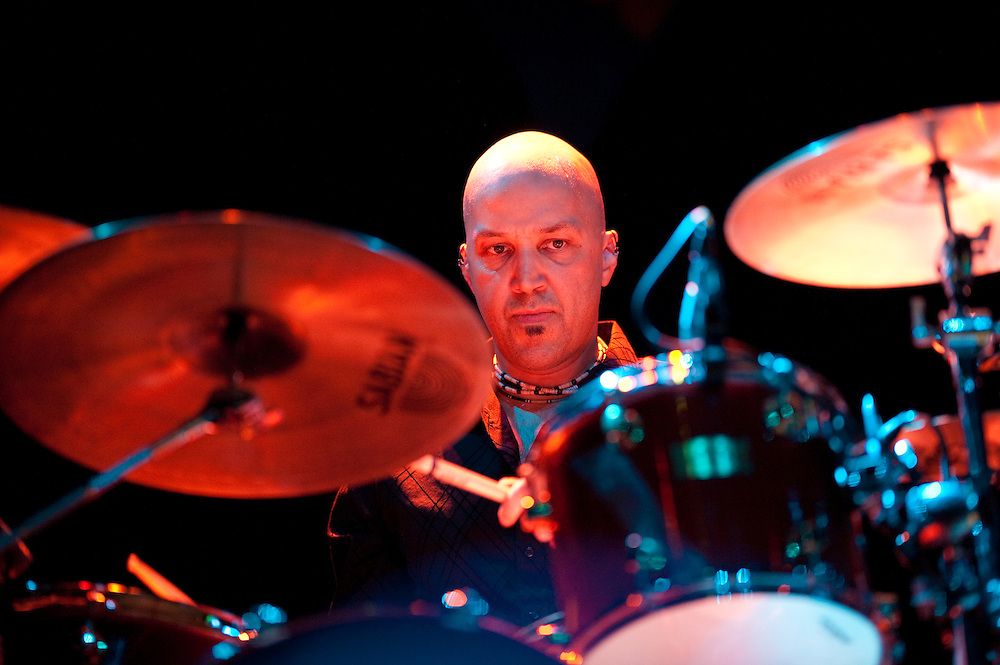 Tom Van Schaik, drummer. Robert Earl Keen and the Robert Earl Keen Band live in concert at the House of Blues in Houston, Texas on Sunday, December 28 2008. Photograph © 2008 Darren Carroll