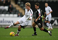 Photo: Rich Eaton.<br /> <br /> Swansea City v Bristol City. Coca Cola League 1. 26/11/2006. Alan Tate left of Swansea and Lee Johnson right of Bristol