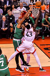 October 19, 2018 - Toronto, Ontario, Canada - Pascal Siakam #43 of the Toronto Raptors goes to the basket during the Toronto Raptors vs Boston Celtics NBA regular season game at Scotiabank Arena on October 19, 2018 in Toronto, Canada (Toronto Raptors win 113-101) (Credit Image: © Anatoliy Cherkasov/NurPhoto via ZUMA Press)