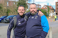 AFC Wimbledon fitness coach Jason Moriarty arriving during the EFL Sky Bet League 1 match between AFC Wimbledon and Doncaster Rovers at the Cherry Red Records Stadium, Kingston, England on 9 March 2019.