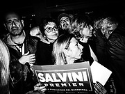 Sostenitori di Matteo Salvini a Parma durante la campagna elettorale per le regionali 2020. <br /> <br /> Parma 31/10/2019