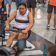 Armanii Samson  FEMALE HEAVYWEIGHT Novice U19 1K Race #8  11:00am<br /> <br /> <br /> www.rowingcelebration.com Competing on Concept 2 ergometers at the 2018 NZ Indoor Rowing Championships. Avanti Drome, Cambridge,  Saturday 24 November 2018 © Copyright photo Steve McArthur / @RowingCelebration
