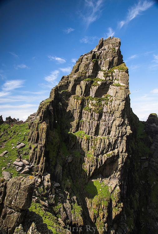The Needle's Eye (217m) on Skellig Michael, County Kerry, Ireland