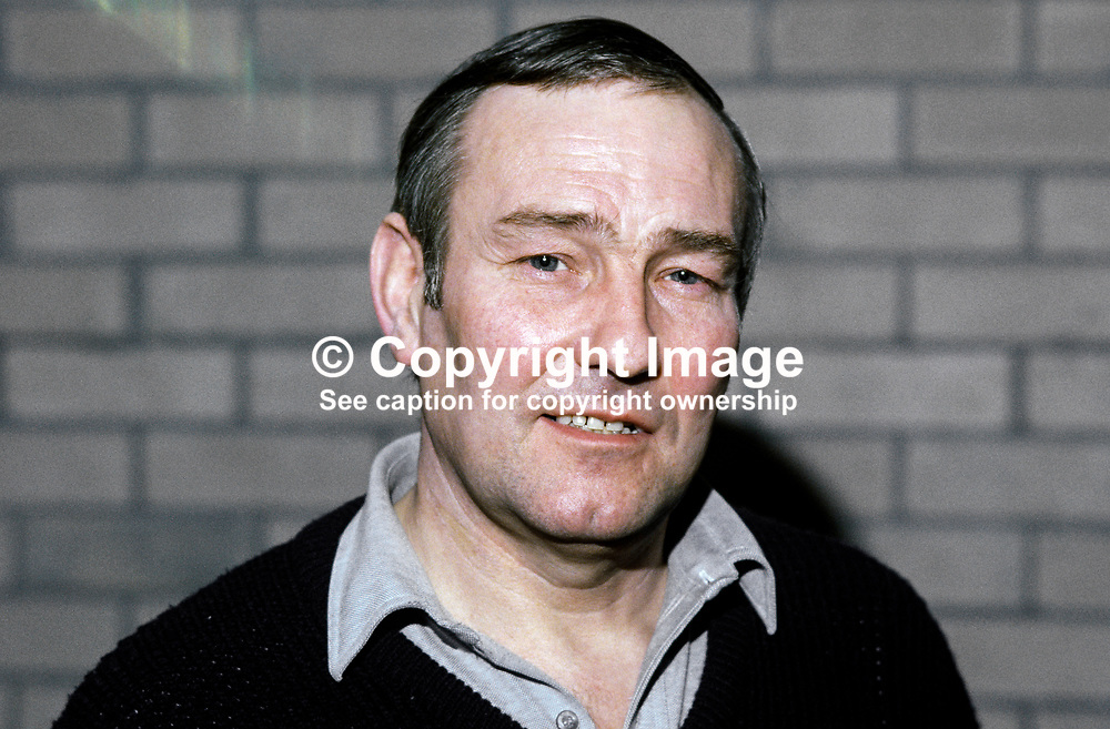 Gerry Storey, national coach, Ulster amateur boxing, N Ireland, 19840007GS<br /> <br /> Copyright Image from Victor Patterson, Belfast, UK<br /> <br /> t: +44 28 9066 1296 (from Rep of Ireland 048 9066 1296)<br /> m: +44 7802 353836<br /> e: victorpattersonbelfast@gmail.com<br /> <br /> www.images4media.com<br /> <br /> Please see my full Terms and Conditions of Use at https://www.images4media.com/p/terms-conditions - it is IMPORTANT that you familiarise yourself with them.<br /> <br /> Images used online incur an additional cost. This cost should be agreed in writing in advance. Online images must be visibly watermarked i.e. © Victor Patterson or that of the named photographer within the body of the image. The original metadata must not be deleted from images used online.<br /> <br /> This image is only available for the use of the download recipient i.e. television station, newspaper, magazine, book publisher, etc, and must not be passed on to a third party. It is also downloaded on condition that each and every usage is notified within 7 days to victorpattersonbelfast@gmail.com.<br /> <br /> The right of Victor Patterson (or the named photographer) to be identified as the author is asserted in accordance with The Copyright Designs And Patents Act (1988). All moral rights are asserted.