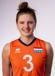 Hyke Lyklema of Netherlands, Photoshoot selection of Orange women's youth volleybal team season 2021on june 15, 2021 in Arnhem, Netherlands (Photo by RHF Agency/Ronald Hoogendoorn)