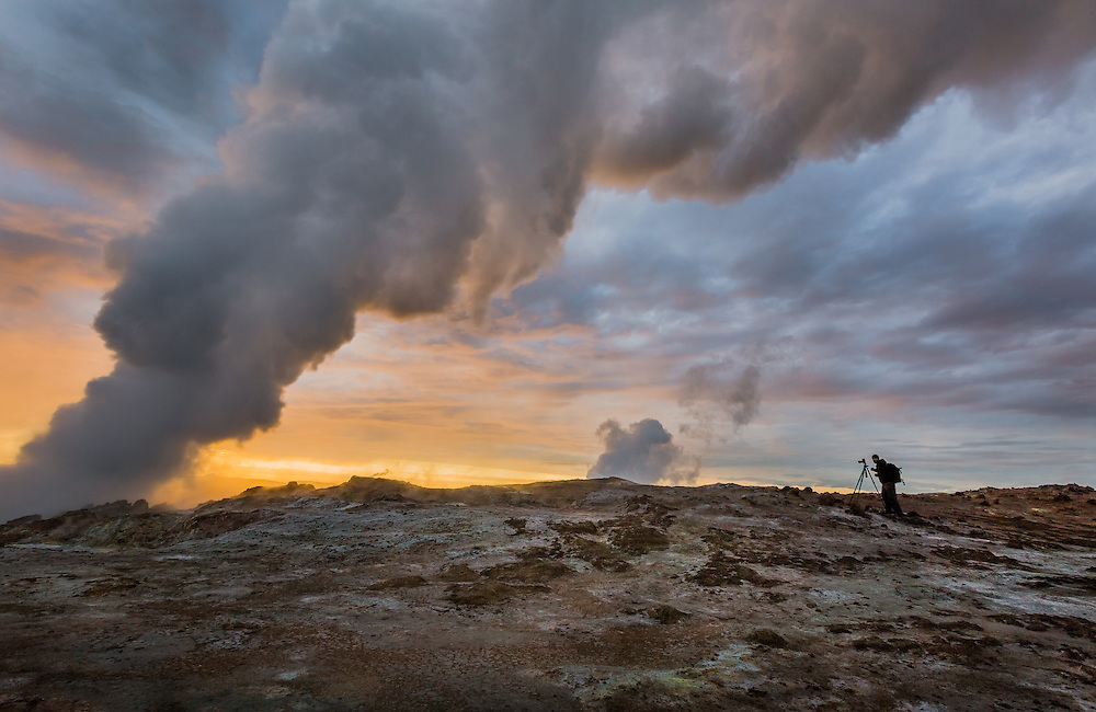 A lone photographer captures the otherworldly landscapes of Iceland's geothermal vents.