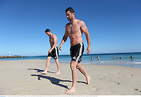 3 June 2013; Rob Kearney, British & Irish Lions, during a recovery session ahead of their game against Western Force on Wednesday. British & Irish Lions Tour 2013, Recovery Session, City Beach, Perth, Australia. Picture credit: Stephen McCarthy / SPORTSFILE