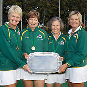 Alice Marble Cup winners, Australia, Left to right, Kerry Ballard, Carol Campling, Kerin Tulloch, Jan Johns during the 2009 ITF Super-Seniors World Team and Individual Championships at Perth, Western Australia, between 2-15th November, 2009.